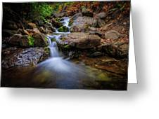 Strongs Canyon Cascades Greeting Card