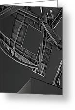 Structure - Center For Brain Health - Las Vegas - Black And White Greeting Card