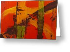 Structure In Orange Greeting Card