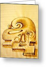 Structure Of Thought Greeting Card by Paulo Zerbato
