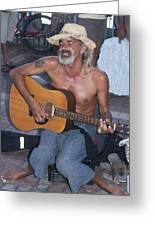 Strumming A Tune In Key West Greeting Card