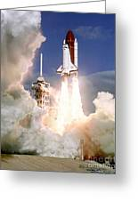 Sts-27, Space Shuttle Atlantis Launch Greeting Card
