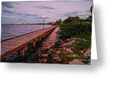 Stuart Riverwalk Sunset Greeting Card