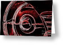 Studebaker Neon Red Greeting Card