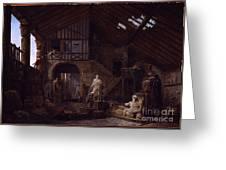 Studio Of An Antiquities Greeting Card