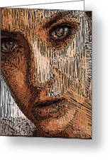 Studio Portrait In Pencil  Greeting Card