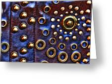 Studs On Leather Greeting Card