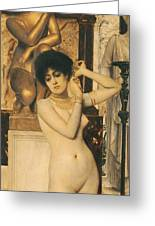 Study For Allegory Of Sculpture Greeting Card