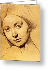 Study For Vicomtesse D Hausonville Born Louise Albertine De Broglie Greeting Card