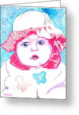 Study In Blue And Pink Greeting Card