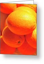 Study In Orange Greeting Card