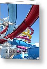 Study In Shipboard Waterslides Greeting Card