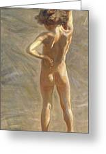 Study Of A Nude Boy Greeting Card