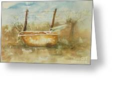 Study Of A Watering Tub Greeting Card
