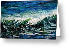 Study Of A Wave Greeting Card