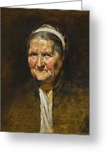 Study Of An Old Woman Greeting Card