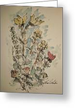 Study Of Flowers O Greeting Card