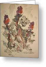 Study Of Flowers Y Greeting Card