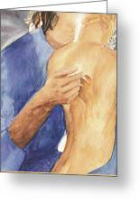 Study Of Lovers  Greeting Card