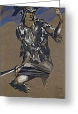 Study Of Perseus In Armour For The Finding Of Medusa Greeting Card