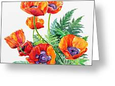 Study Of Poppies Greeting Card