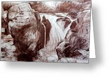 Study Of Rocks At Betws-y-coed Greeting Card