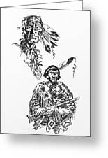 Study Of Two Indians Greeting Card
