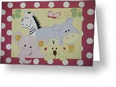 Stuffed Animals Greeting Card