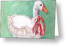 Stuffed Goose Greeting Card