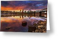 Stumptown Sunset Greeting Card