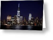 Stunning Nyc Skyline At Night Greeting Card
