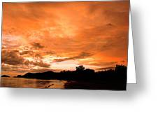 Stunning Tropical Sunset Greeting Card