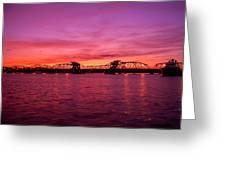 Sturgeon Bay Sunset Greeting Card