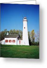 Sturgeon Point Lighthouse, Michigan - Vertical  Greeting Card