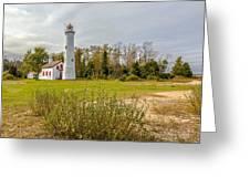 Sturgeon Point Ligthouse Lake Huron, Lower Peninsula, Mi Greeting Card