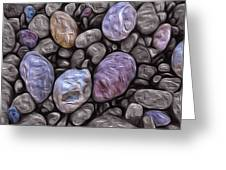 Stylized Beach Stones On Lake Superior Greeting Card