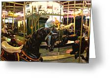 Stylized Merry-go-round Photo Greeting Card