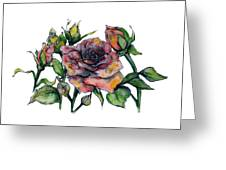 Stylized Roses Greeting Card by Lauren Heller