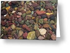 Submerged Lake Stones Greeting Card