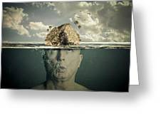 Submerged Man Greeting Card