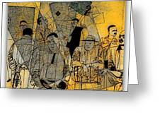 Submitted Cd Cover For The Band Bebop Complex 50's Jazz Revisited Greeting Card