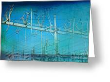Substation Insulators Greeting Card