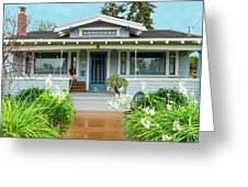 Suburban Arts And Crafts House Hayward California 8 Greeting Card