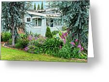 Suburban House Hayward, California 7, Suburbia Series Greeting Card