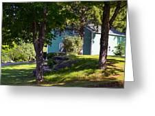 Suburban House Greeting Card