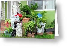 Suburban House With Front Yard Religious Shrine Hayward California 10 Greeting Card