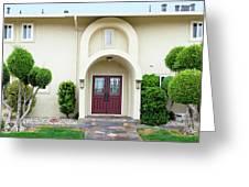 Modern Suburban House With Topiary Hayward California 31 Greeting Card