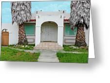 Suburban Surveillance House On Montgomery Avenue Hayward California 6 Greeting Card