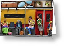 Subway - Lonely Travellers Greeting Card by Anne Klar