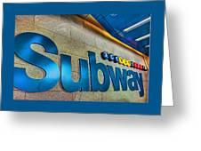 Subway Entrance Greeting Card